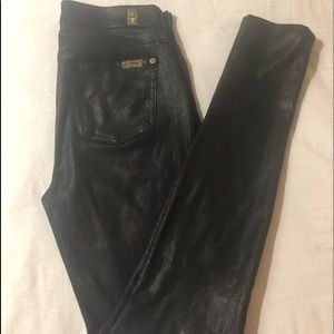 7 For All Mankind High Rise Faux Leather Skinny